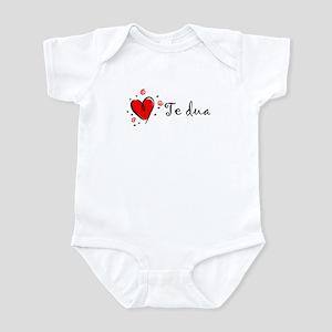 """I Love You"" [Albanian1] Infant Bodysuit"